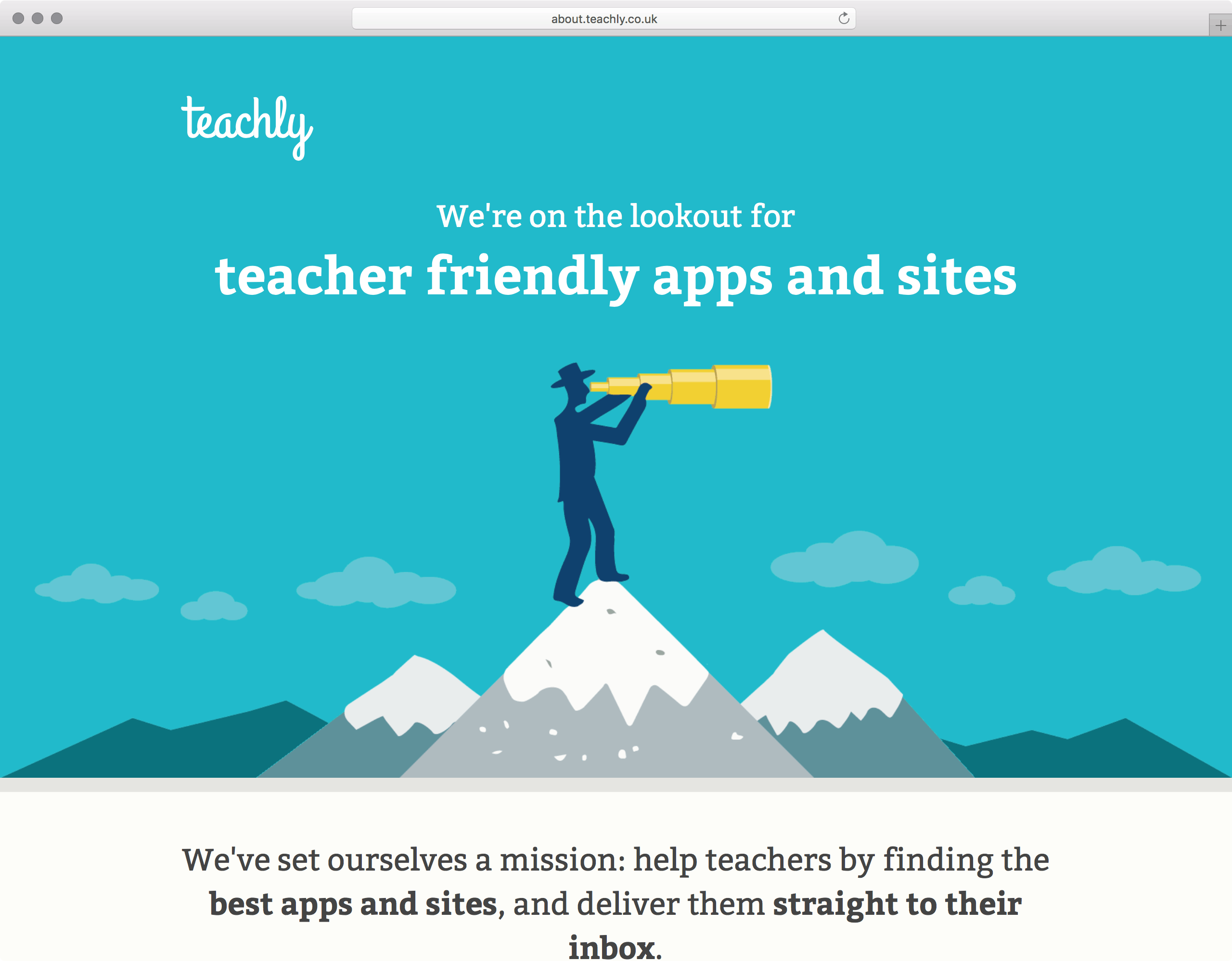 Teachly.co.uk Find teacher friendly tech UI
